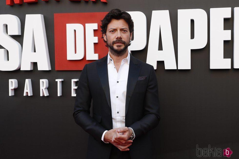 Álvaro Morte en la presentación de la tercera temporada de 'La Casa de Papel'