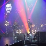 Luis Fonsi, Paulina Rubio, Antonio Orozco y Pablo López en el concierto de 'La Voz'