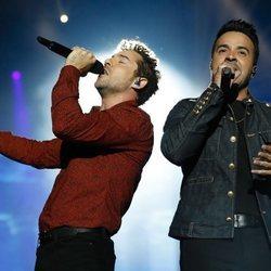 David Bisbal y Luis Fonsi en el concierto de 'La Voz'