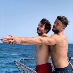 Miki Núñez y Ricky Moreno imitando a Kate Winslet y Leonardo DiCaprio en 'Titanic'