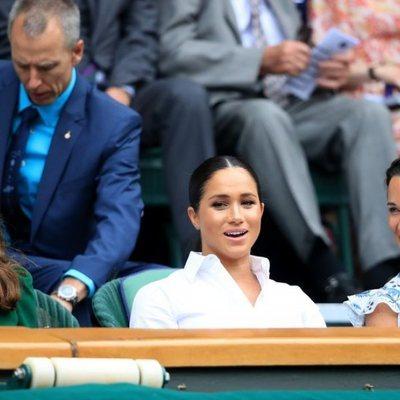 Kate Middleton, Meghan Markle y Pippa Middleton en la final de Wimbledon 2019