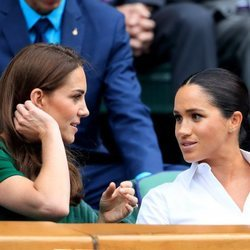 Kate Middleton y Meghan Markle en la final de Wimbledon 2019