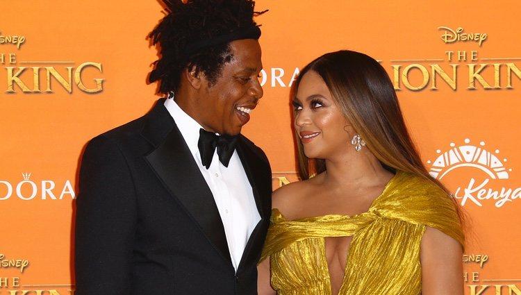 Beyoncé y Jay Z en el estreno de 'El Rey León' en Londres