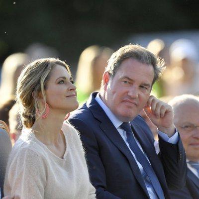Magdalena de Suecia y Chris O'Neill celebrando el 42 cumpleaños de la Princesa Victoria de Suecia