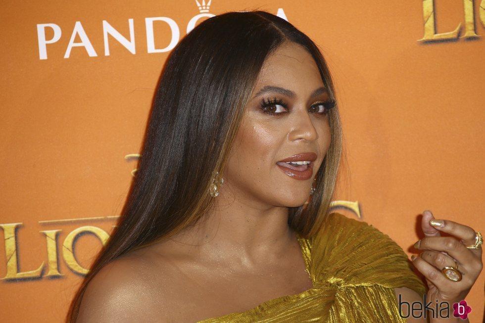 Beyoncé en el estreno de 'El Rey León' en Londres