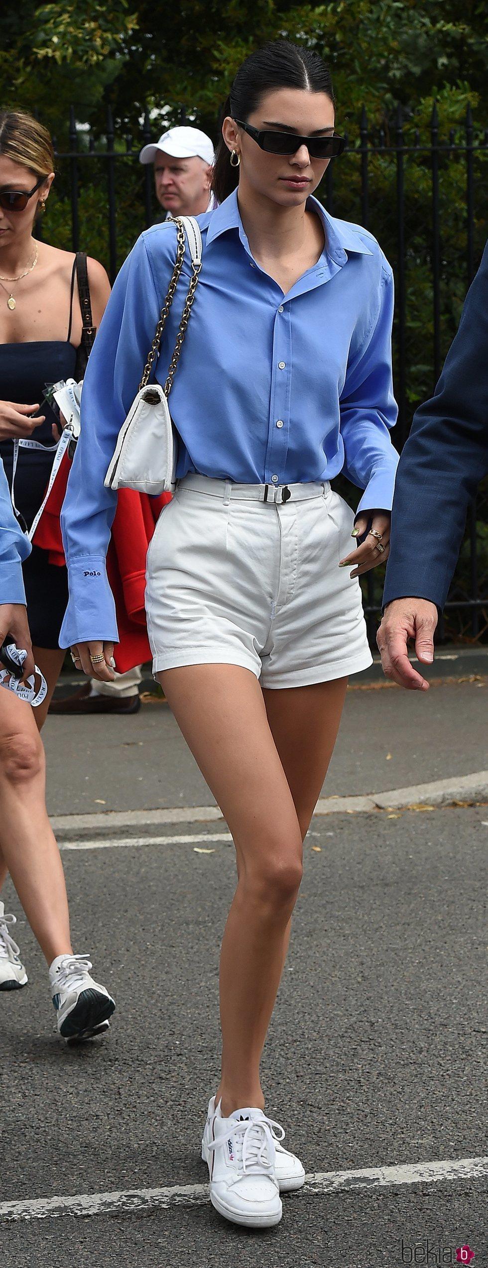 Kendall Jenner llegando a la final de Wimbledon