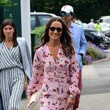 Pippa Middleton llegando a la final de Wimbledon