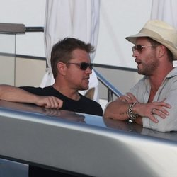 Matt Damon y Chris Hemsworth de fiesta en Ibiza