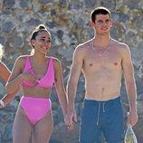 Aitana Ocaña y Miguel Bernardeau, sonrientes en Ibiza