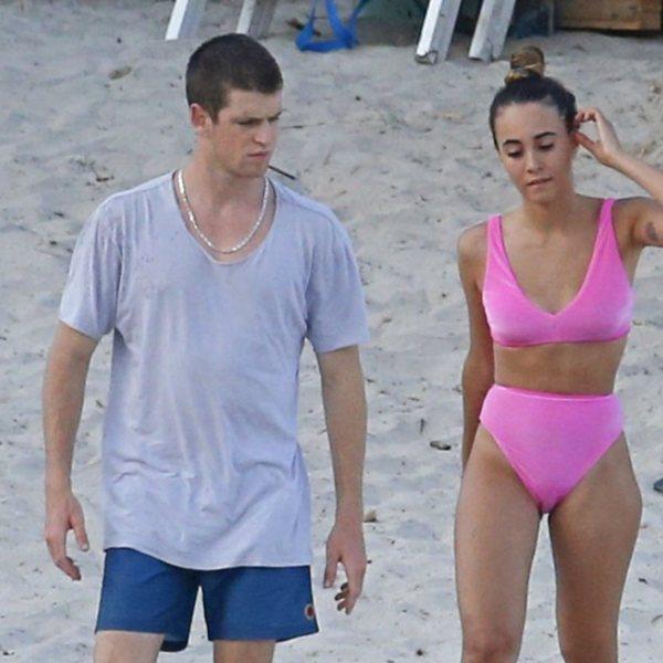 Aitana Ocaña y Miguel Bernardeu disfrutan de un día de playa en Ibiza