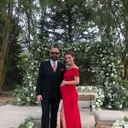 Laura Escanes y Risto Mejide en la boda de Lovely Pepa