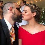 Risto Mejide y Laura Escanes en la boda de Lovely Pepa