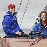 La Infanta Elena en las regatas de Sanxenxo