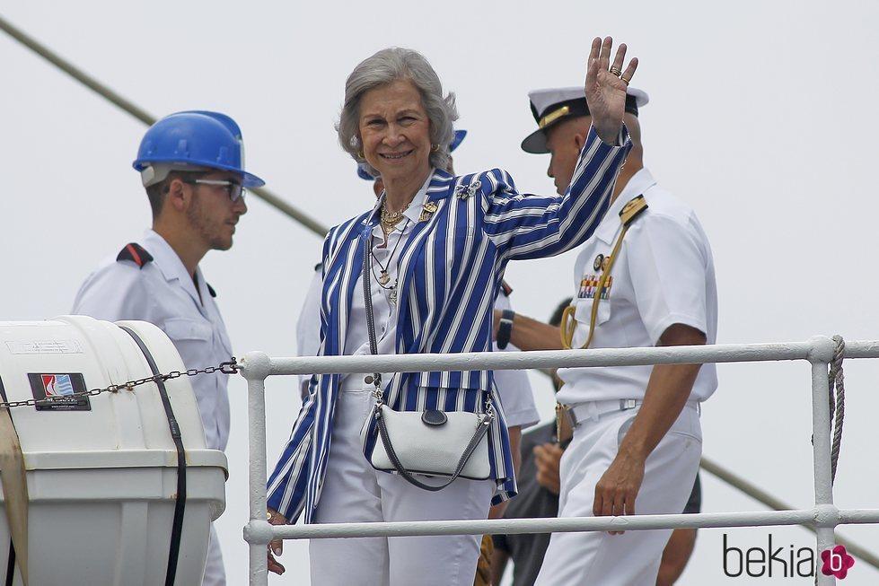 La Reina Sofía en las regatas de Sanxenxo