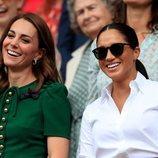 Kate Middleton y Meghan Markle presumen de buena relación en Wimbledon 2019