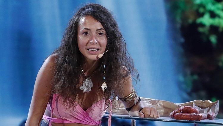 Mahi Masegosa en el plató de Telecinco en la final de 'Supervivientes 2019'