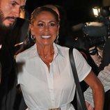 Isabel Pantoja llegando a la fiesta de despedida de 'Supervivientes 2019' en Madrid