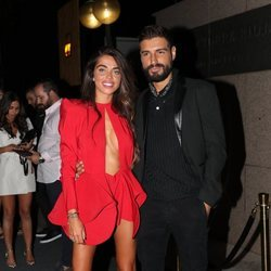 Violeta Mangriñán y Fabio Colloricchio a su llegada a la fiesta de despedida de 'Supervivientes 2019'
