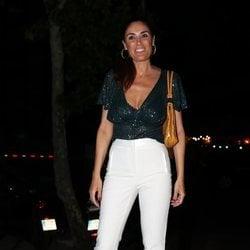 Isabel Rábago a su llegada a la fiesta de despedida de 'Supervivientes 2019'