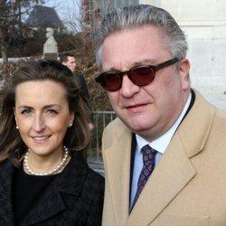 Los príncipes Laurent y Claire de Bélgica acuden a una misa en Bruselas