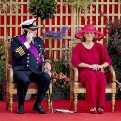 Laurent de Bélgica junto a su mujer en el Día Nacional de Bélgica 2019
