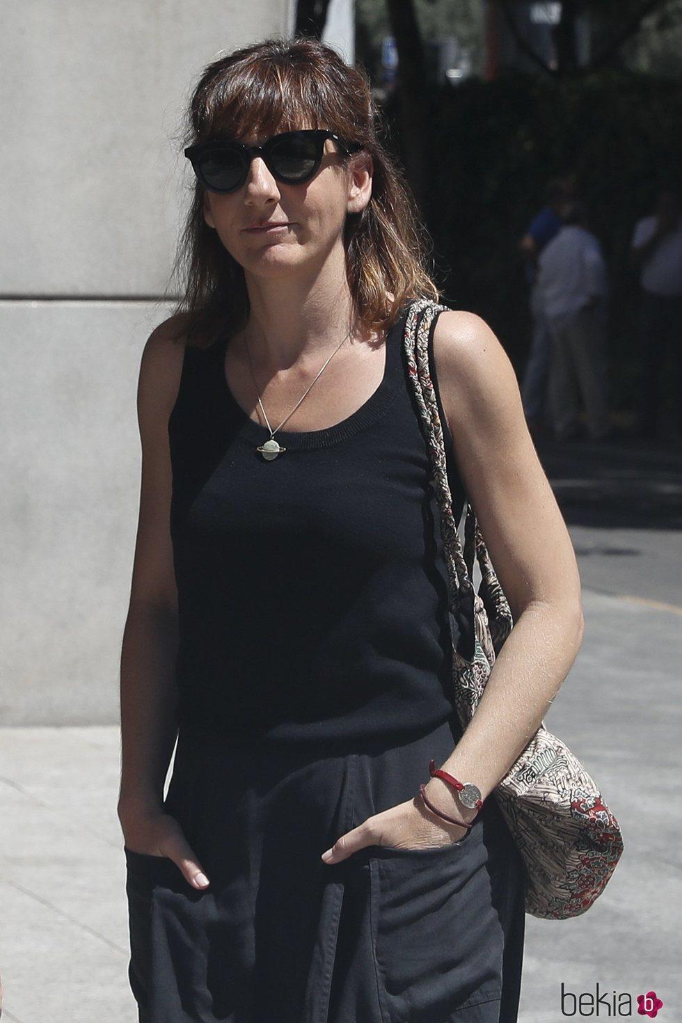 Malena Alterio en la capilla ardiente de Eduardo Gómez