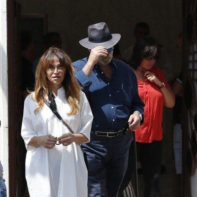 Antonia San Juan en el funeral de Eduardo Gómez