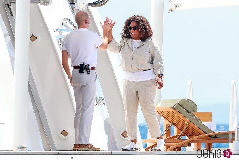 Oprah Winfrey desconectando en la isla ibicenca española