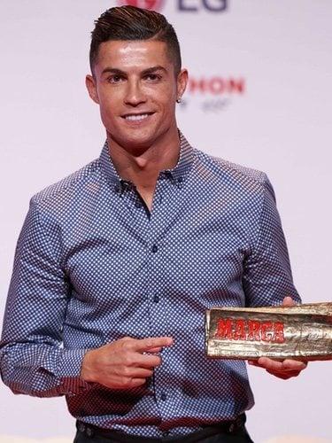 Cristiano Ronaldo ras recibir en Premio Leyenda de Marca