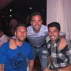 Leo Messi, Cesc Fàbregas y Luis Suárez en Ibiza