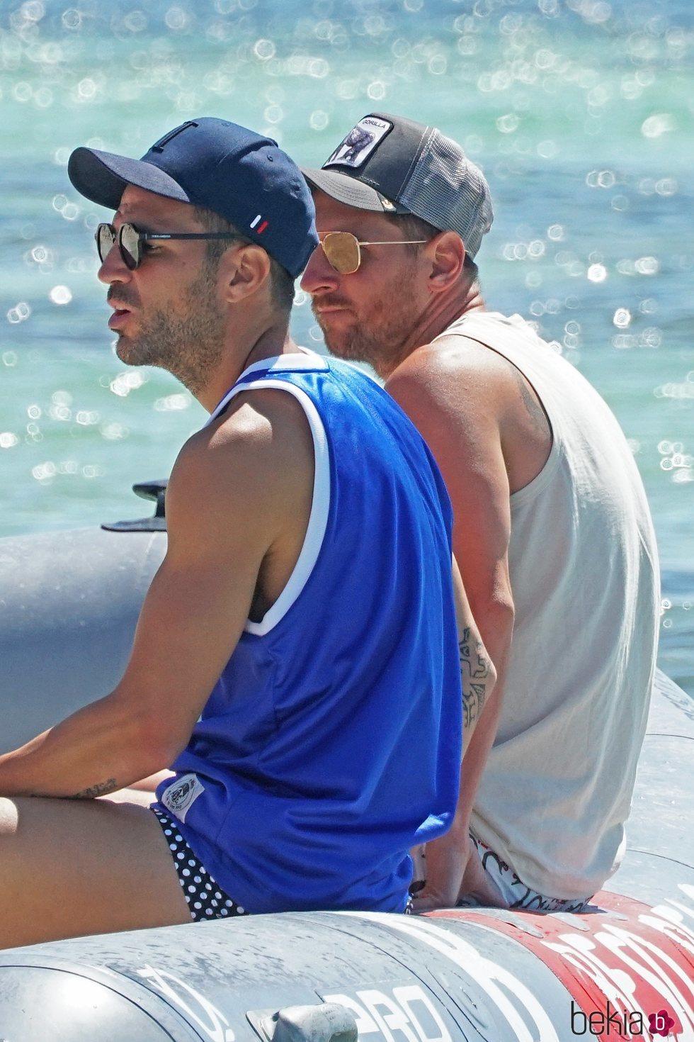 Cesc Fàbregas y Leo Messi, juntos en Ibiza