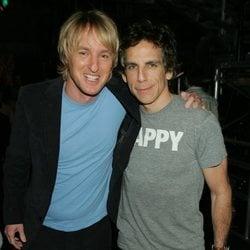 Owen Wilson y Ben Stiller en backstage en 2009