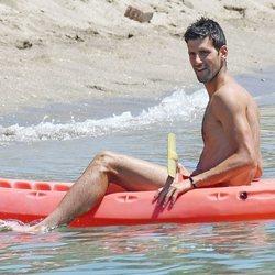 Djokovic de vacaciones por Marbella