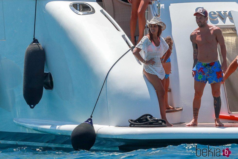 Leo Messi y Antonella Roccuzzo, juntos en sus vacaciones en Ibiza 2019
