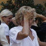 Mercedes Milá, muy afectada en el funeral de su madre