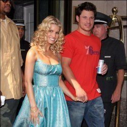 Jessica Simpson y su primer marido, el cantante Nick Lachey