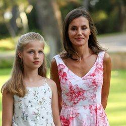 La Reina Letizia y la Princesa Leonor en su posado de verano 2019 en Marivent