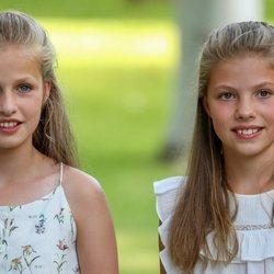 La Princesa Leonor y la Infanta Sofía en su posado de verano 2019 en Marivent