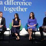 El Príncipe Guillermo y Kate Middleton y el Príncipe Harry y Meghan Markle en el I Forum de la Royal Foundation