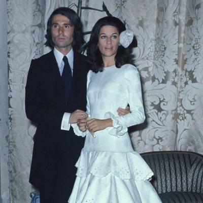 Raphael y Natalia Figueroa el día de su boda