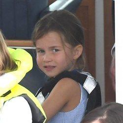 La Princesa Carlota, una espectadora más en las regatas del Rey de Cowes