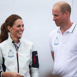 Los Duques de Cambridge en las regatas de la Copa del Rey de Cowes