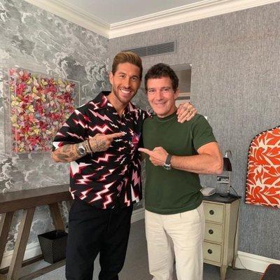 Sergio Ramos y Antonio Banderas, juntos en Londres