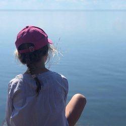 La Princesa Estela de Suecia en la costa de Kalmar