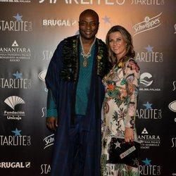 Marta Luisa de Noruega y Shaman Durek en la gala benéfica de Starlite 2019