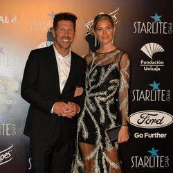 Diego Simeone y Carla Pereyra en la Gala Starlite 2019 en Marbella
