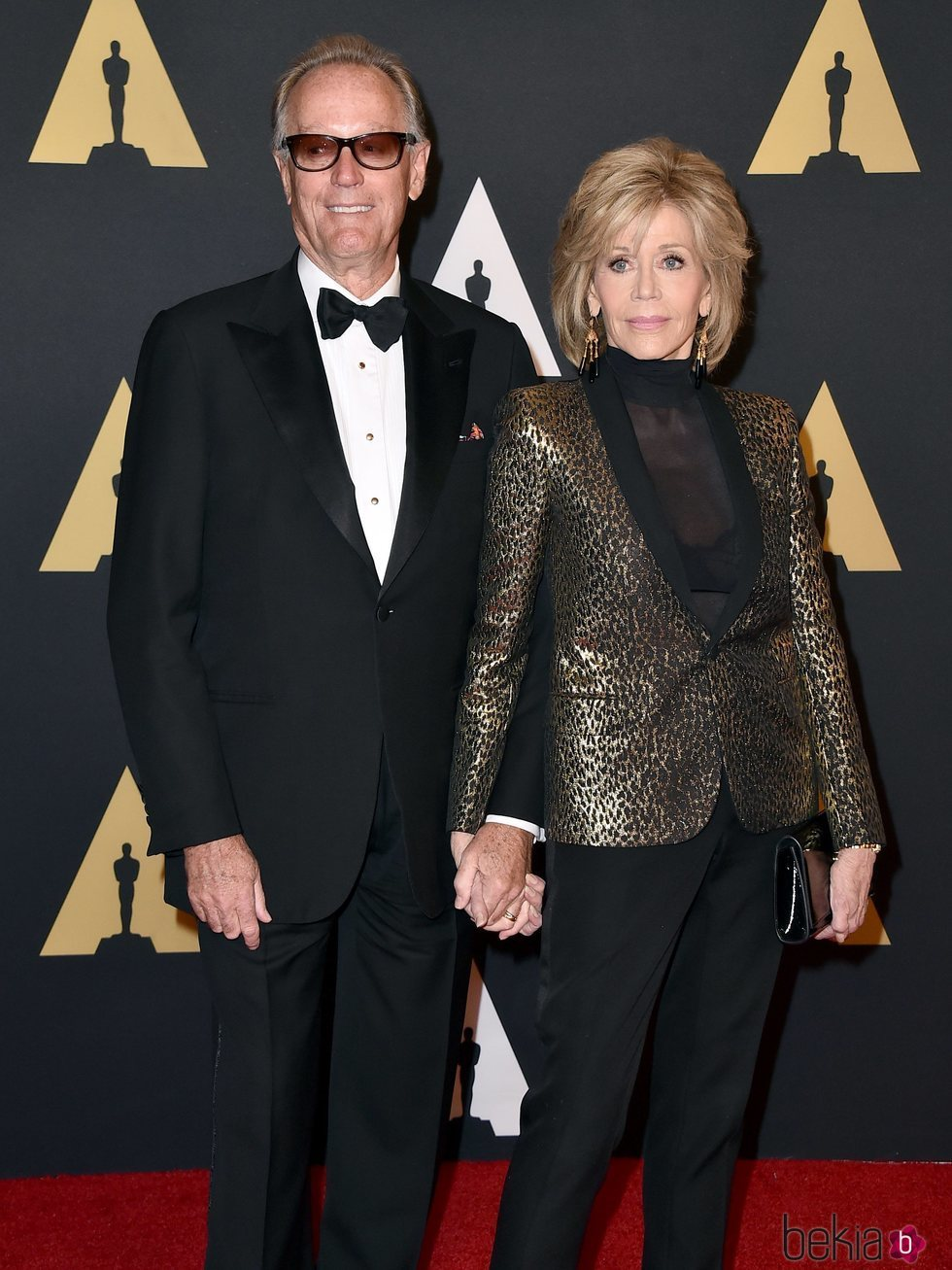 Jane Fonda y Peter Fonda en los Governors Awards de 2015