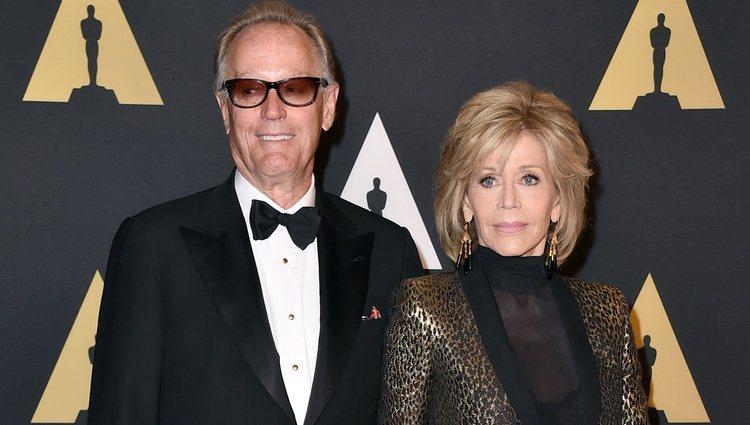 Jane Fonda y Peter Fonda en los Governors Awards de 2015