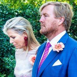 Guillermo y Máxima de Holanda en el funeral de la Princesa Cristina