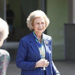 La Reina Sofía llega al hospital a visitar al Rey Juan Carlos